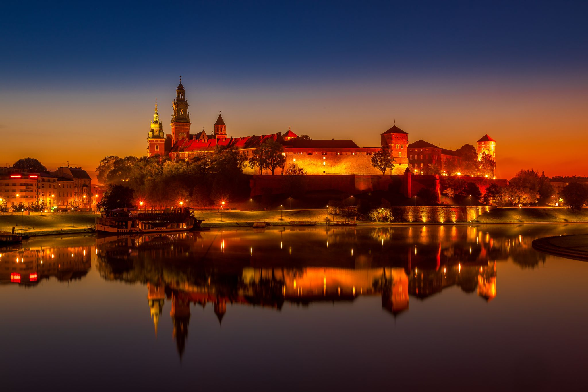 Wawel castle and cathedral in Krakow Poland